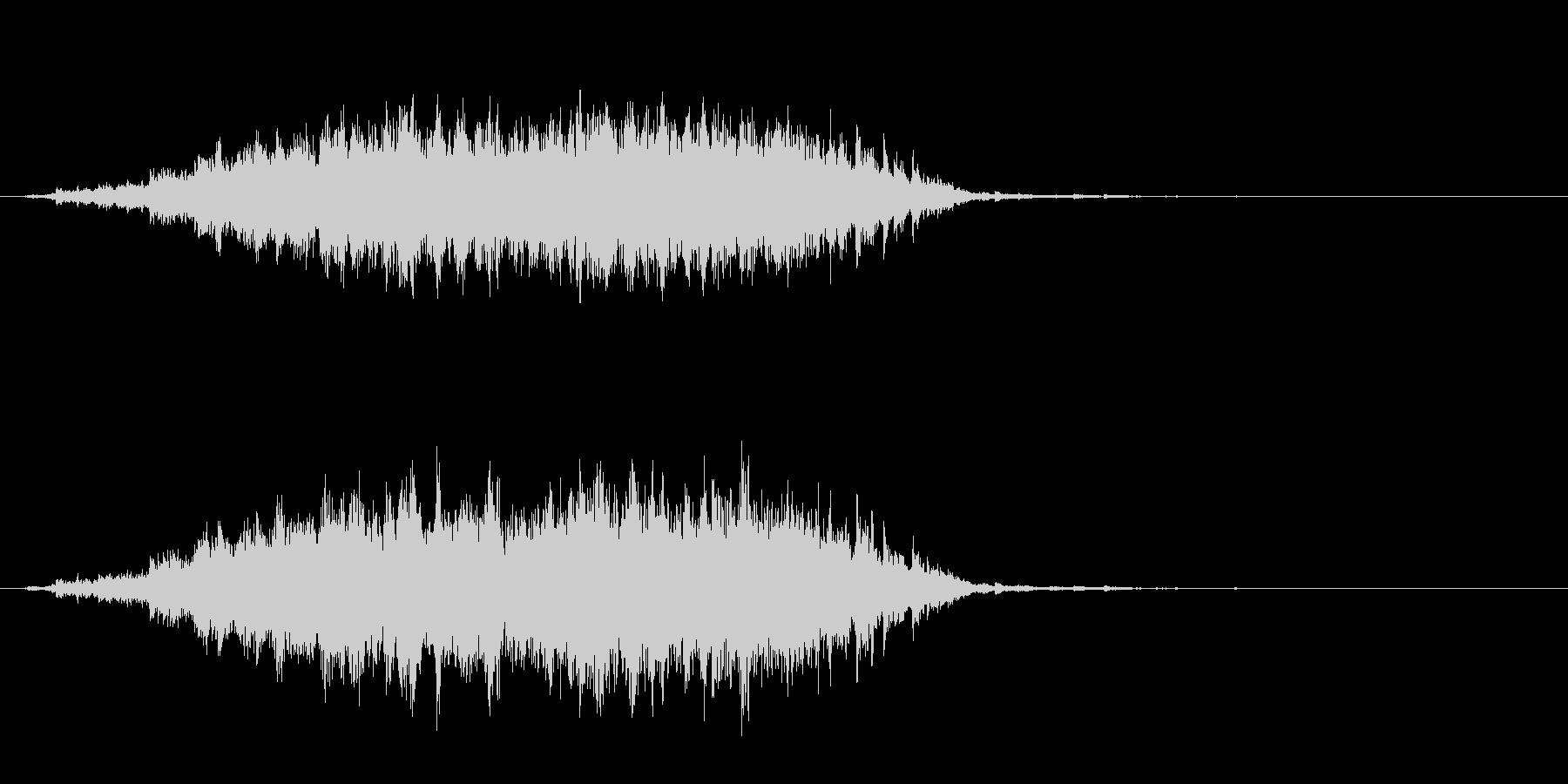 重めの鈴の音「えきろ」のフレーズ音2の未再生の波形