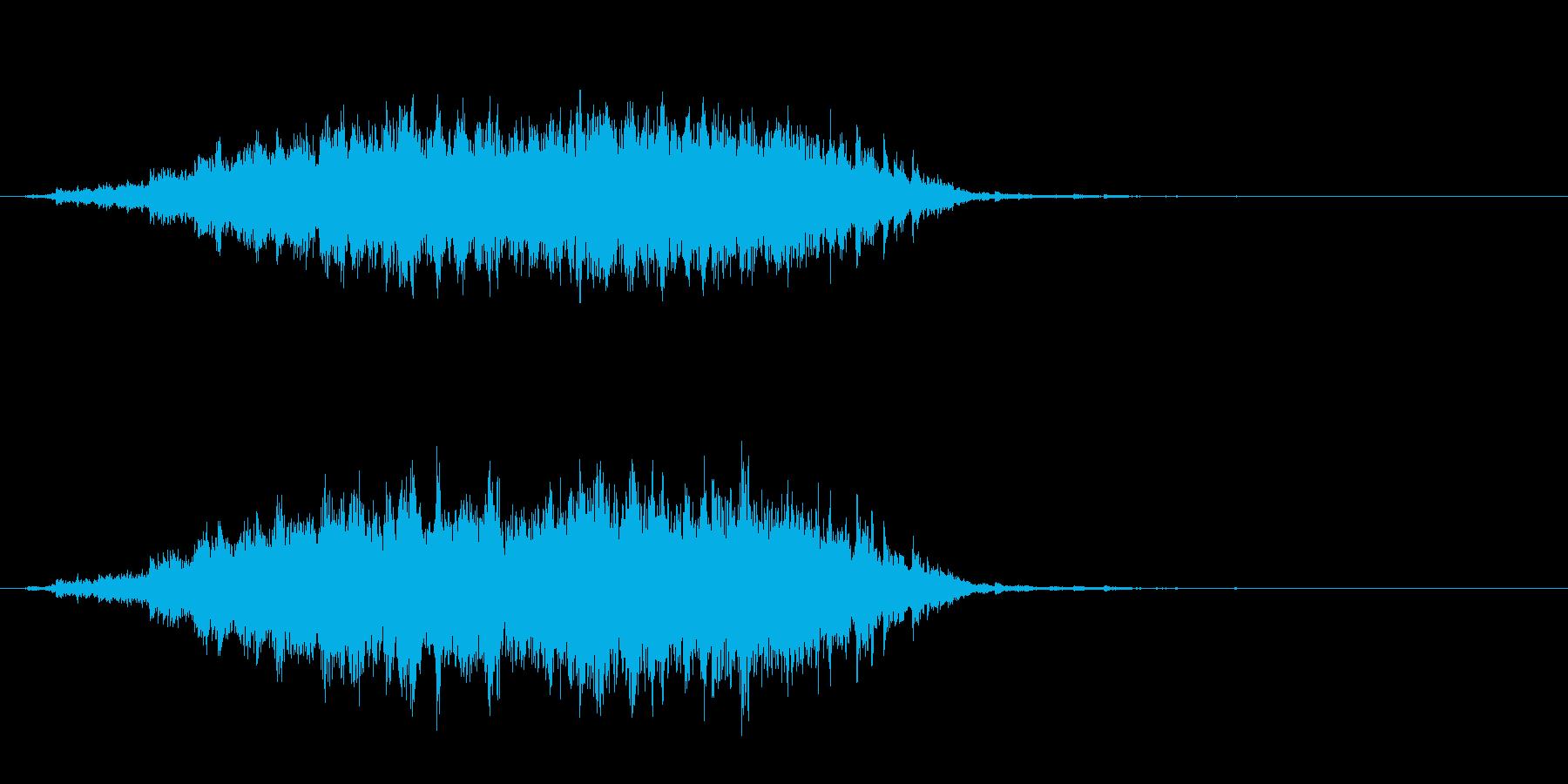 重めの鈴の音「えきろ」のフレーズ音2の再生済みの波形