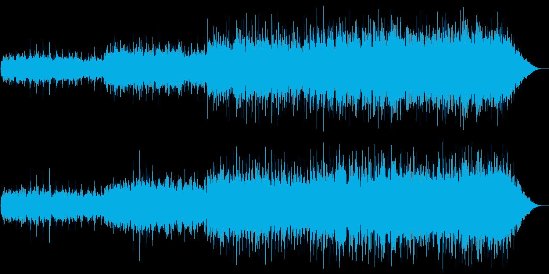 ギターストロークによるキラキラした世界の再生済みの波形