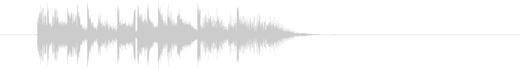 何かが始まる予感のするなシンセ曲の未再生の波形