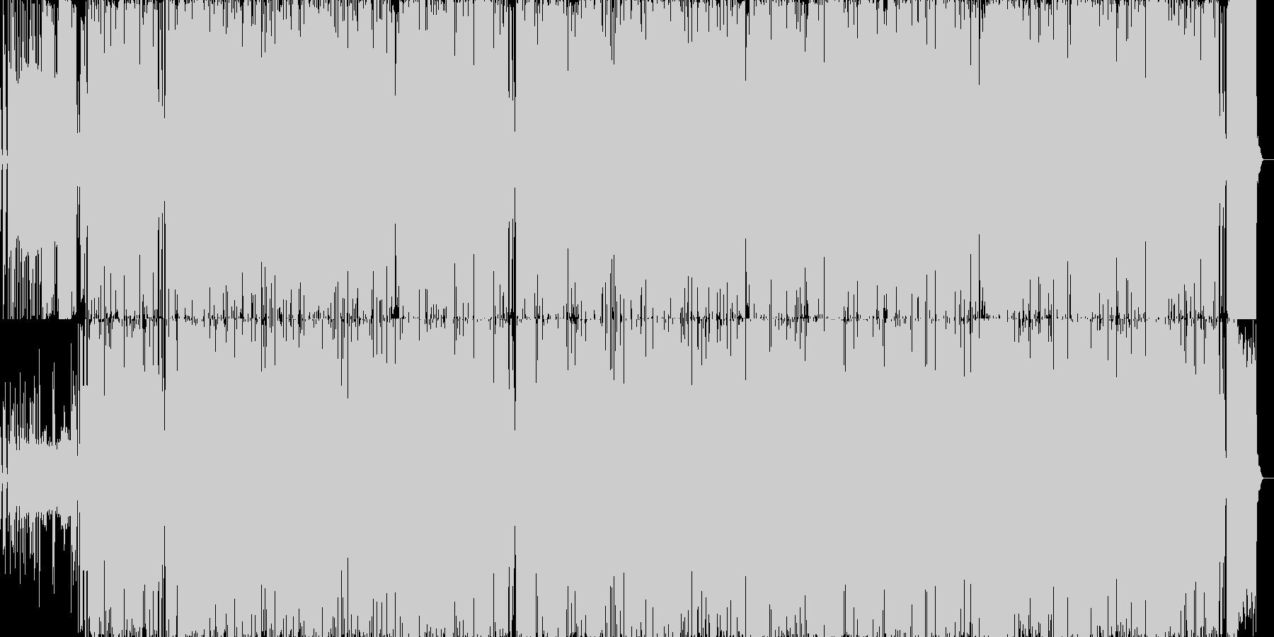 土佐弁歌詞のフォークポップスの未再生の波形