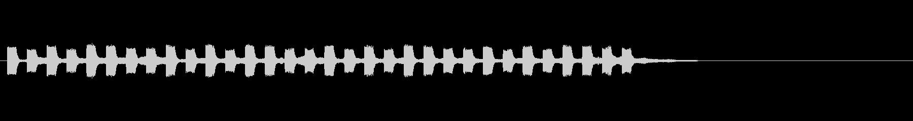 テッテッテッテテの未再生の波形