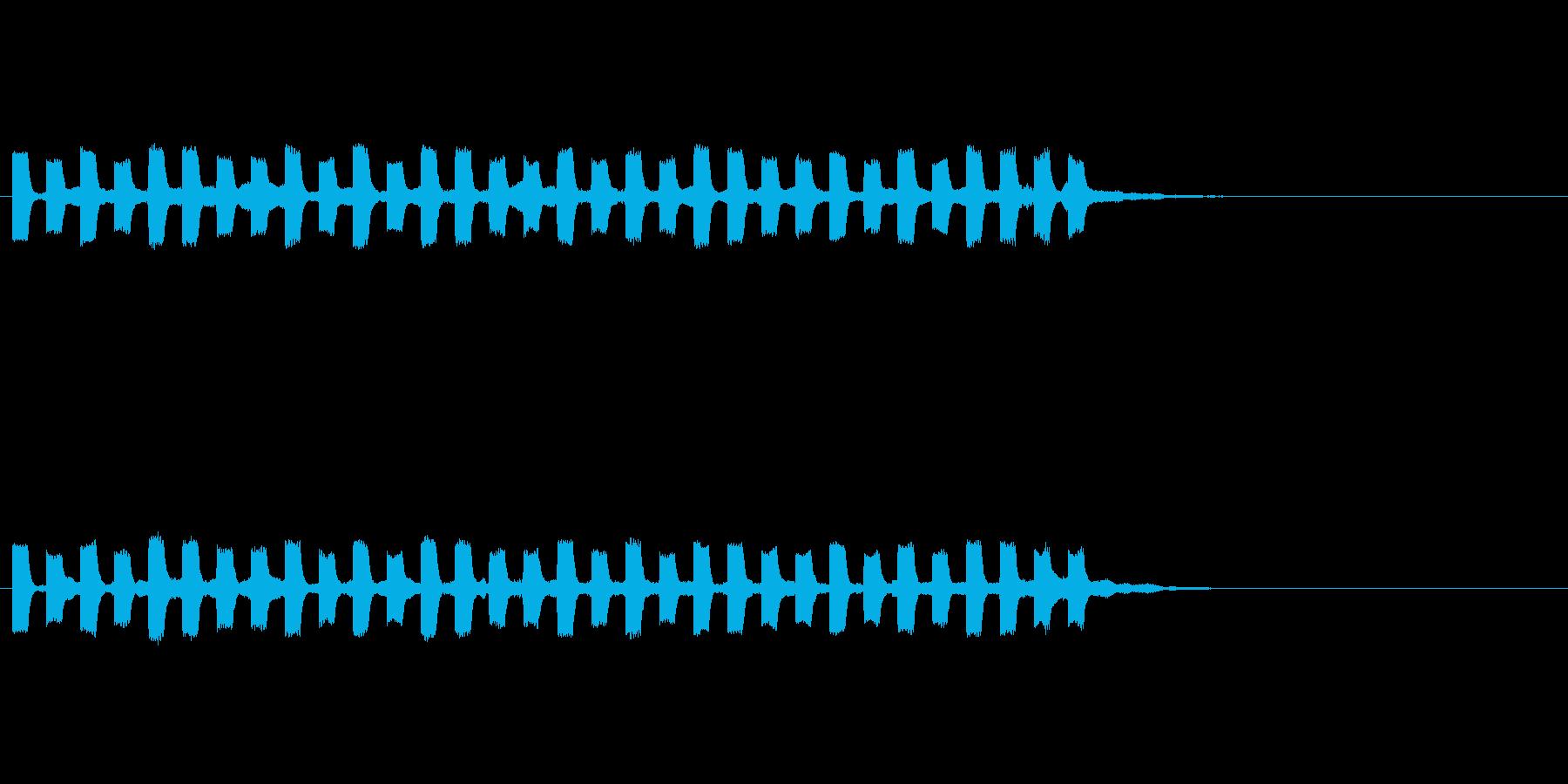 テッテッテッテテの再生済みの波形