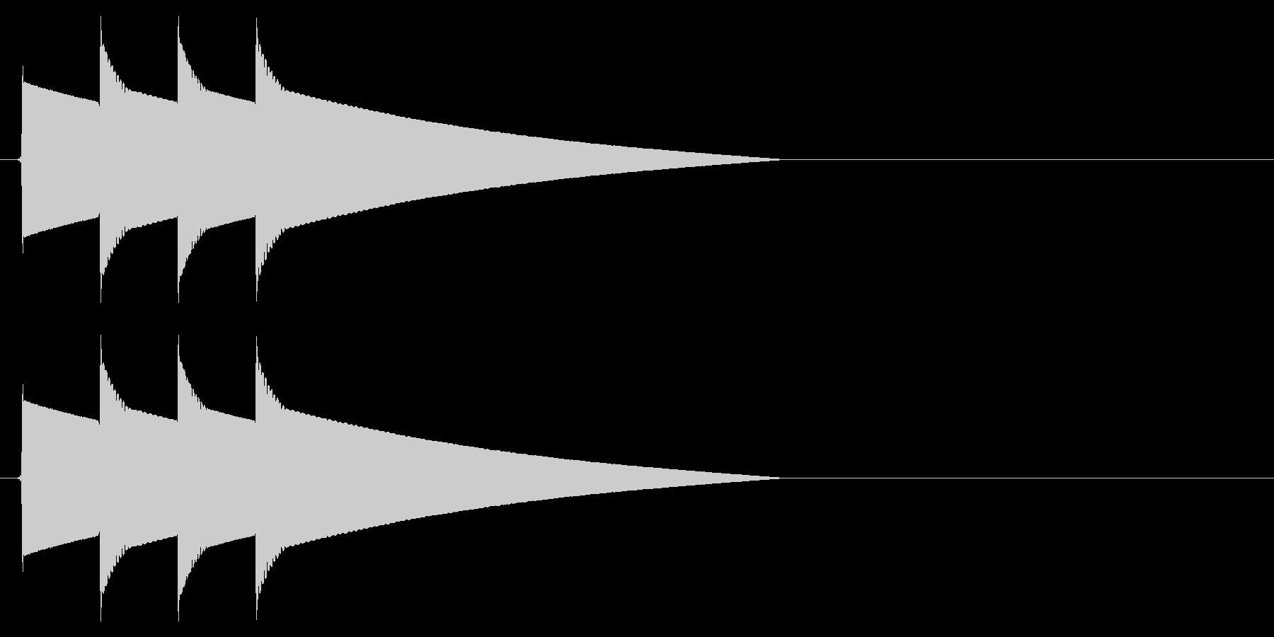 ピポピポーン(正解、高めの音)の未再生の波形