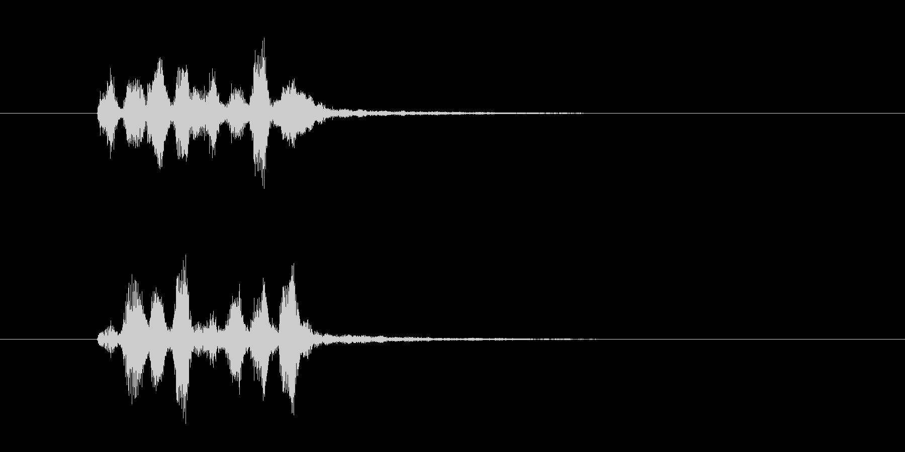 電子音のファンファーレ(決定音、効果音)の未再生の波形
