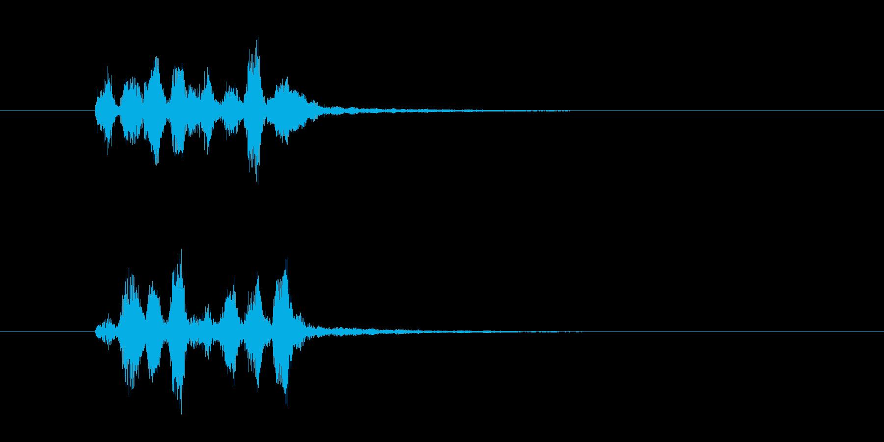 電子音のファンファーレ(決定音、効果音)の再生済みの波形