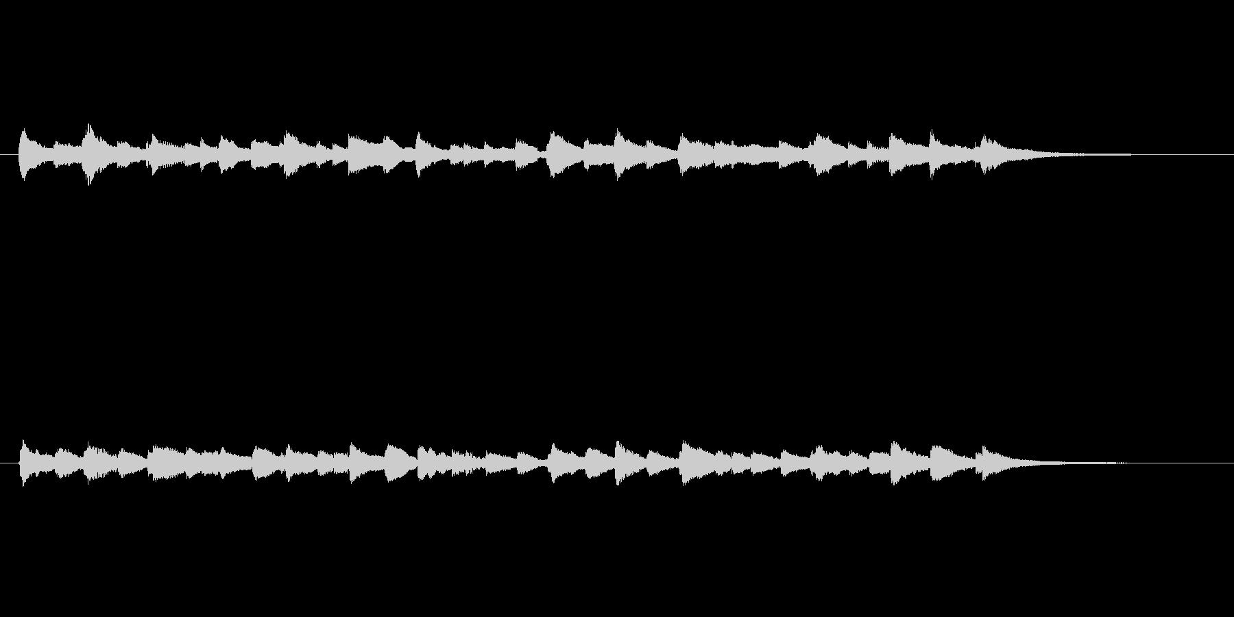 中世チェンバロ風エンディングの未再生の波形