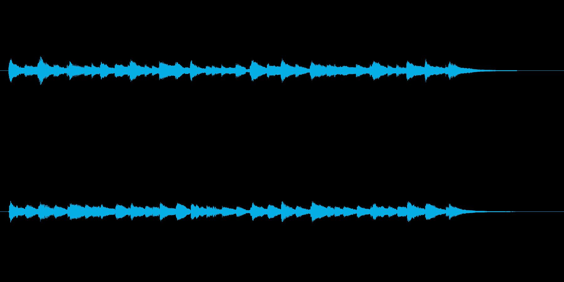 中世チェンバロ風エンディングの再生済みの波形