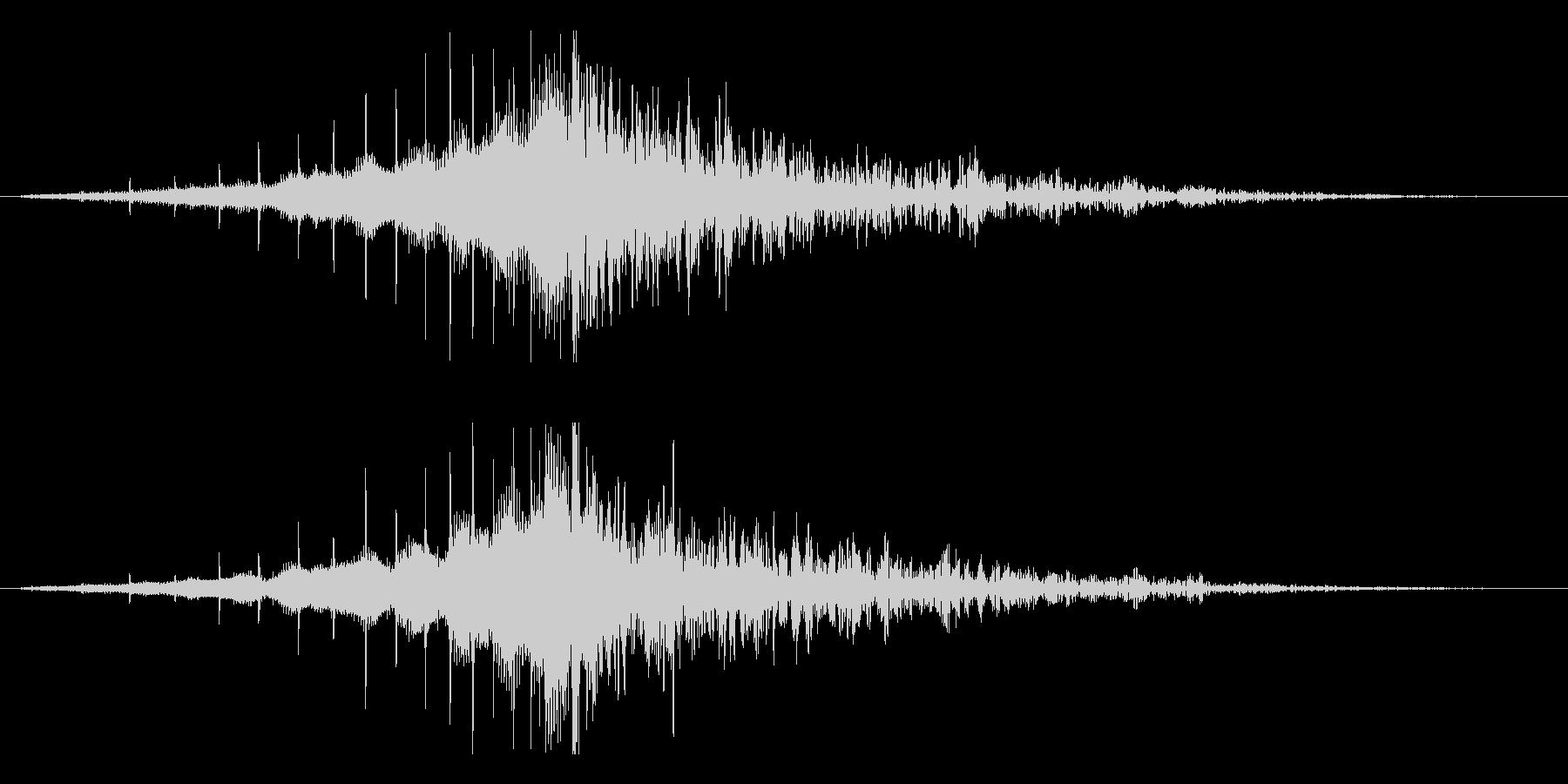 ホラー系アタック音132の未再生の波形
