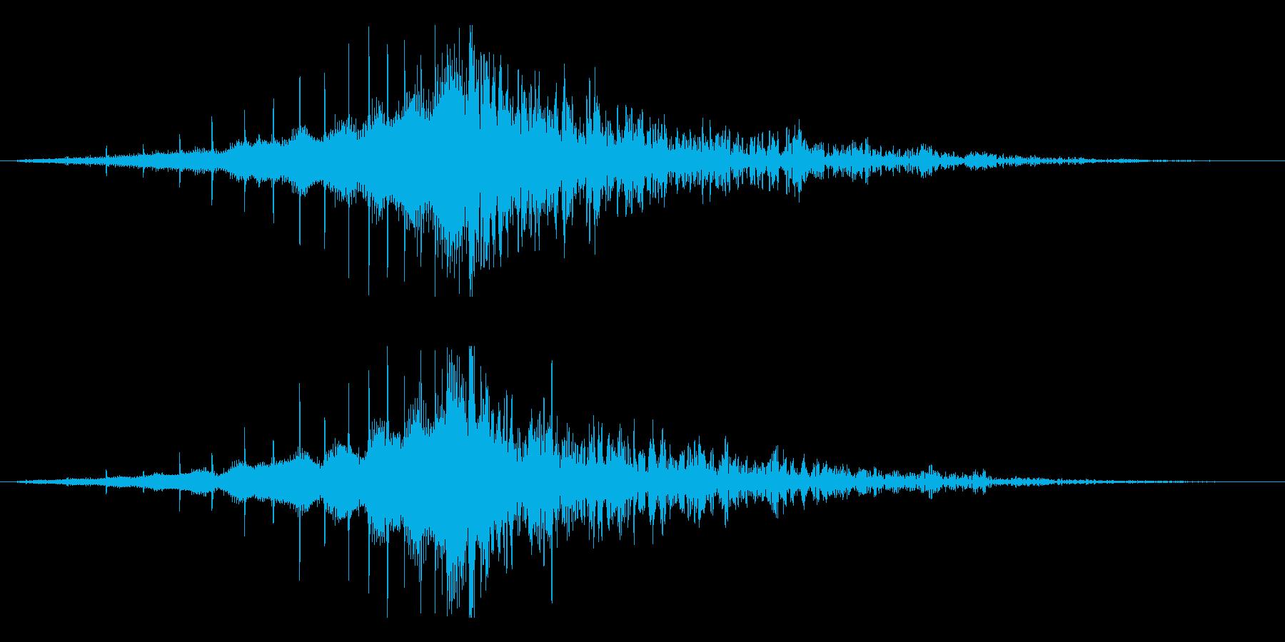 ホラー系アタック音132の再生済みの波形