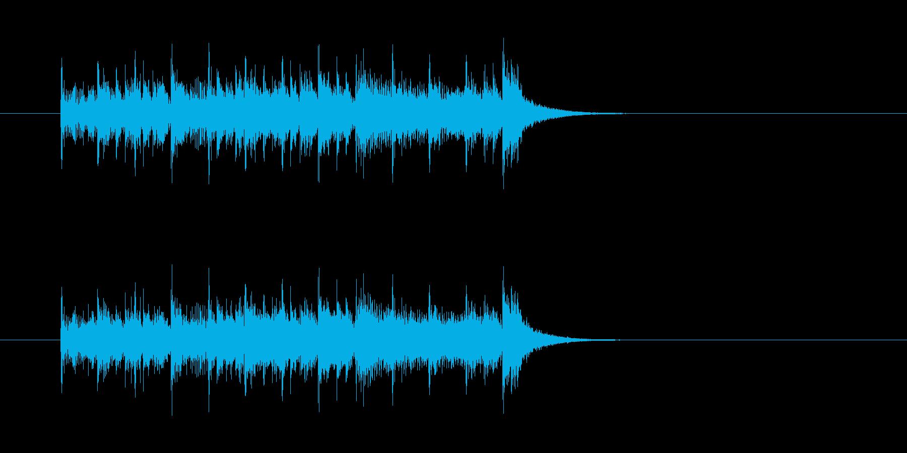 ジングル(ゴージャスなアンサンブル風)の再生済みの波形