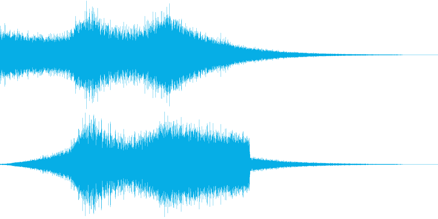 RadioSFX ラジオなど曲前のSEの再生済みの波形