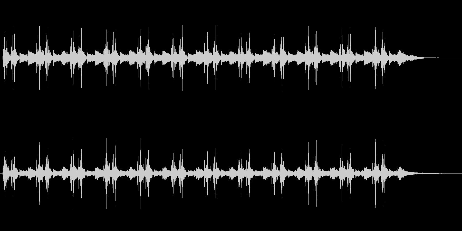 舞台転換ダークの未再生の波形