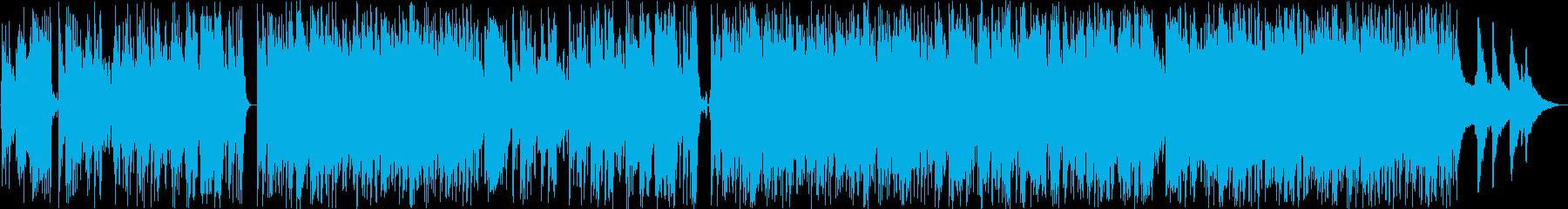 切ないバラードのクラシックギターの再生済みの波形