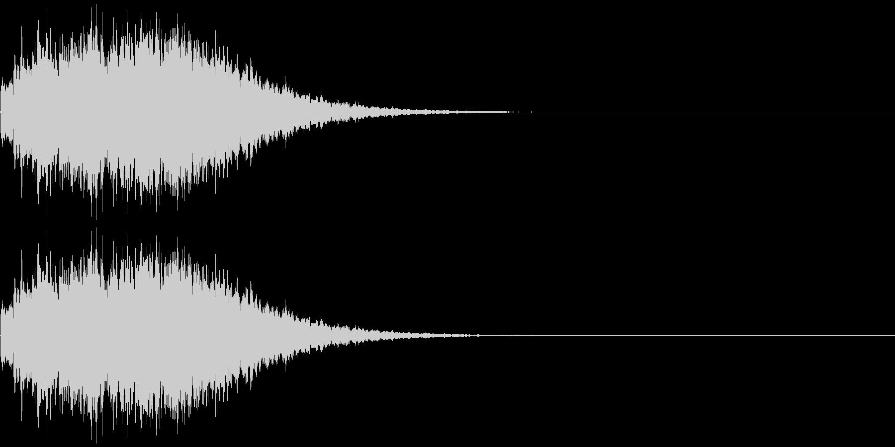 決定、ボタン押下(長めのきらきら音)の未再生の波形