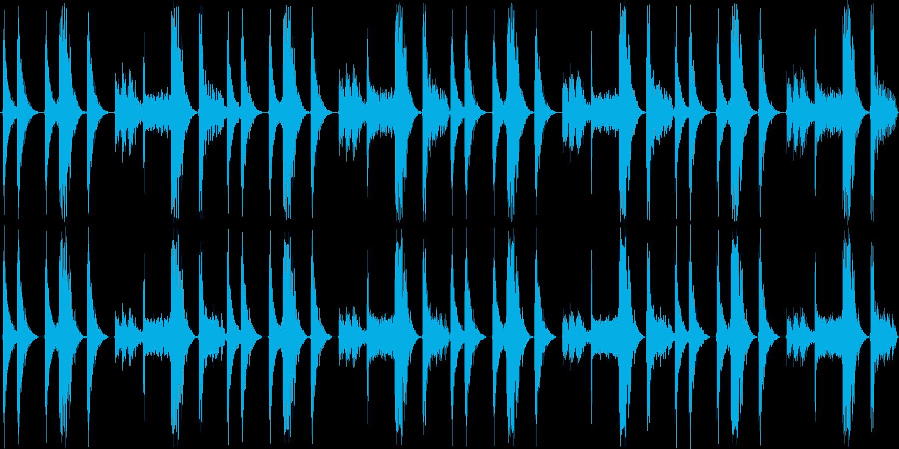 【シンキングタイム/ハウスドラムロール】の再生済みの波形