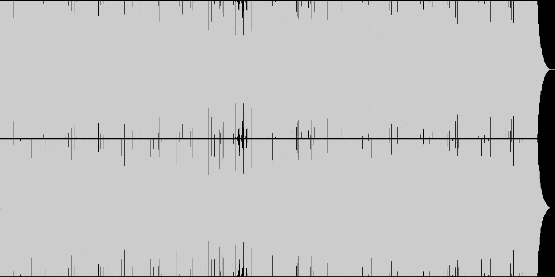 「ハンガリー舞曲」トランスアレンジの未再生の波形