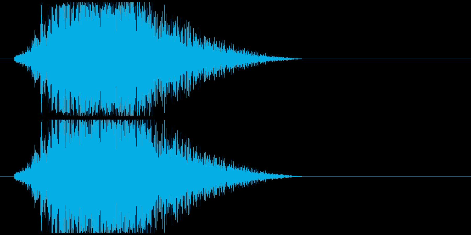 飛翔ジャンプ音の再生済みの波形