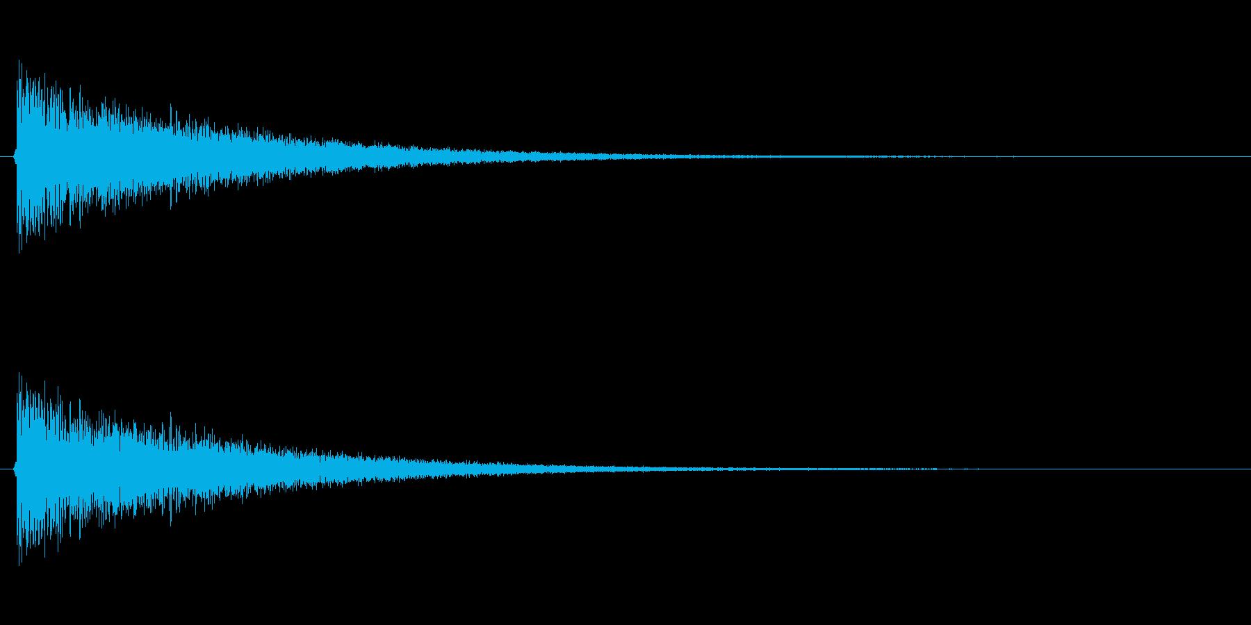 シュイーン!(風、倒す、スライディング)の再生済みの波形