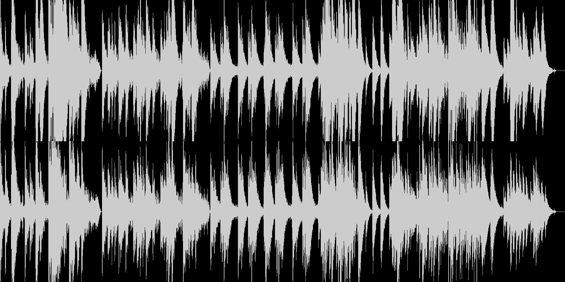 柔らかく、静謐なアコースティックギターの未再生の波形