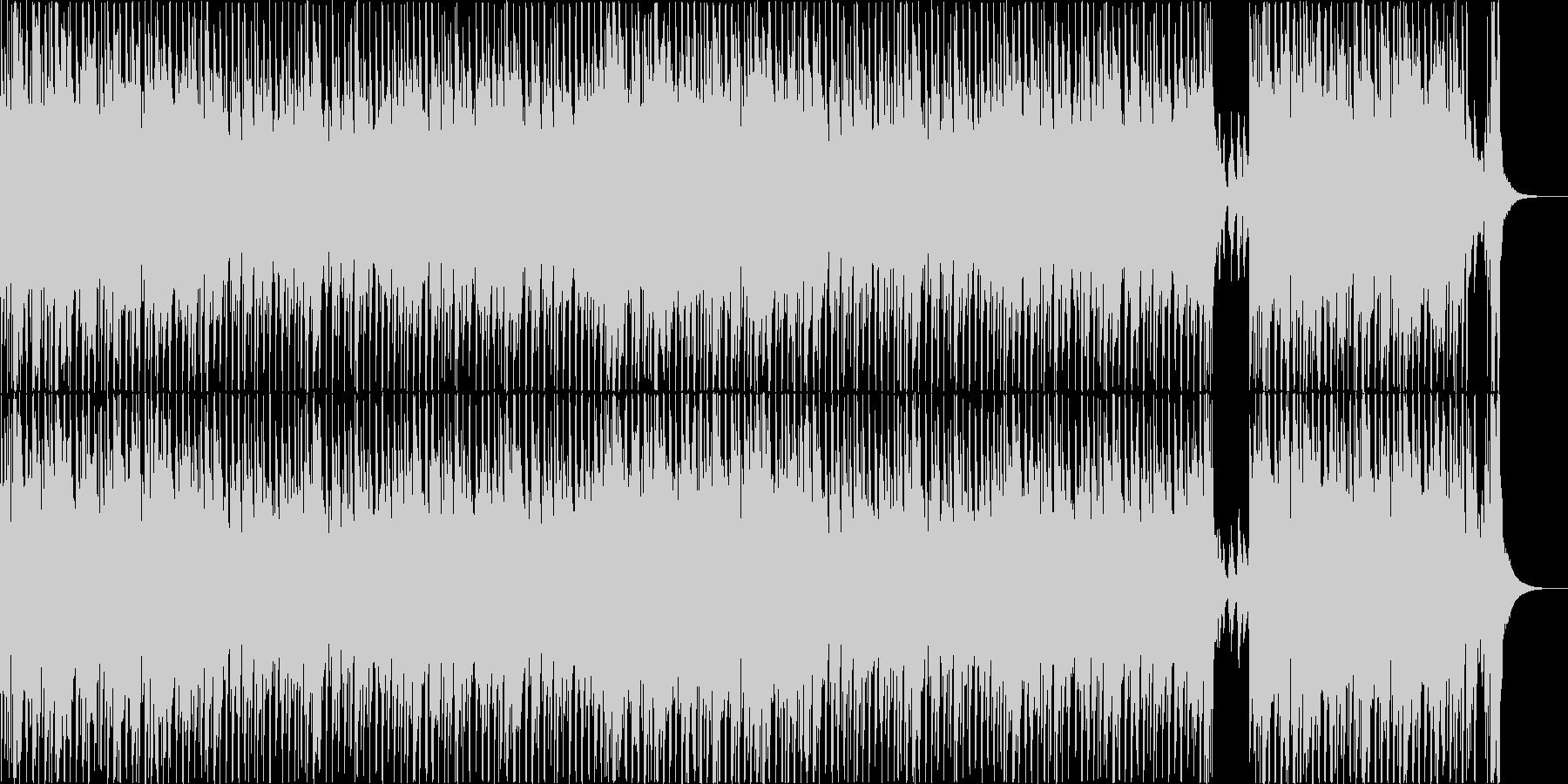 ピアノとブラスが軽快に鳴るポップスの未再生の波形