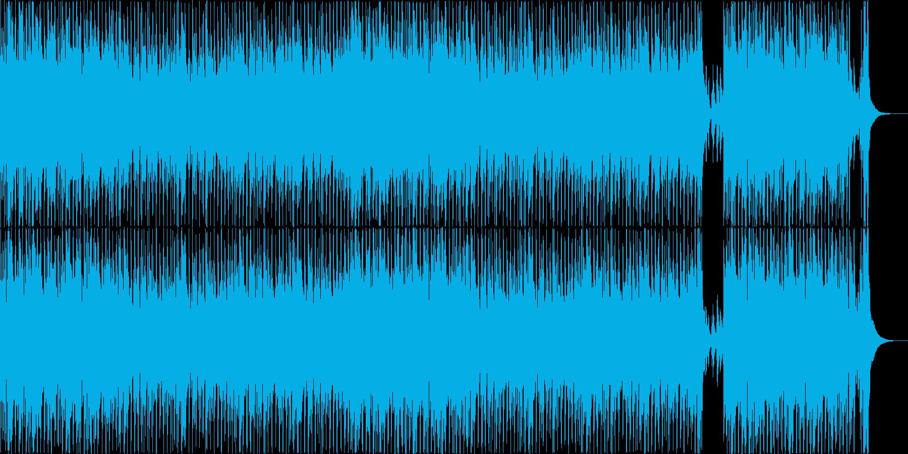 ピアノとブラスが軽快に鳴るポップスの再生済みの波形