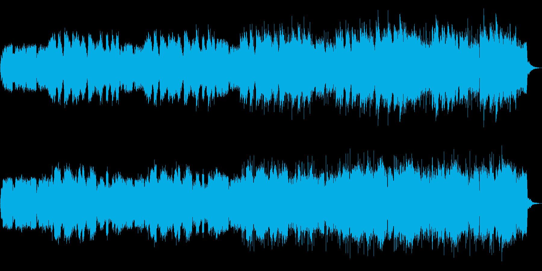 神秘的で癒される映像BGMの再生済みの波形