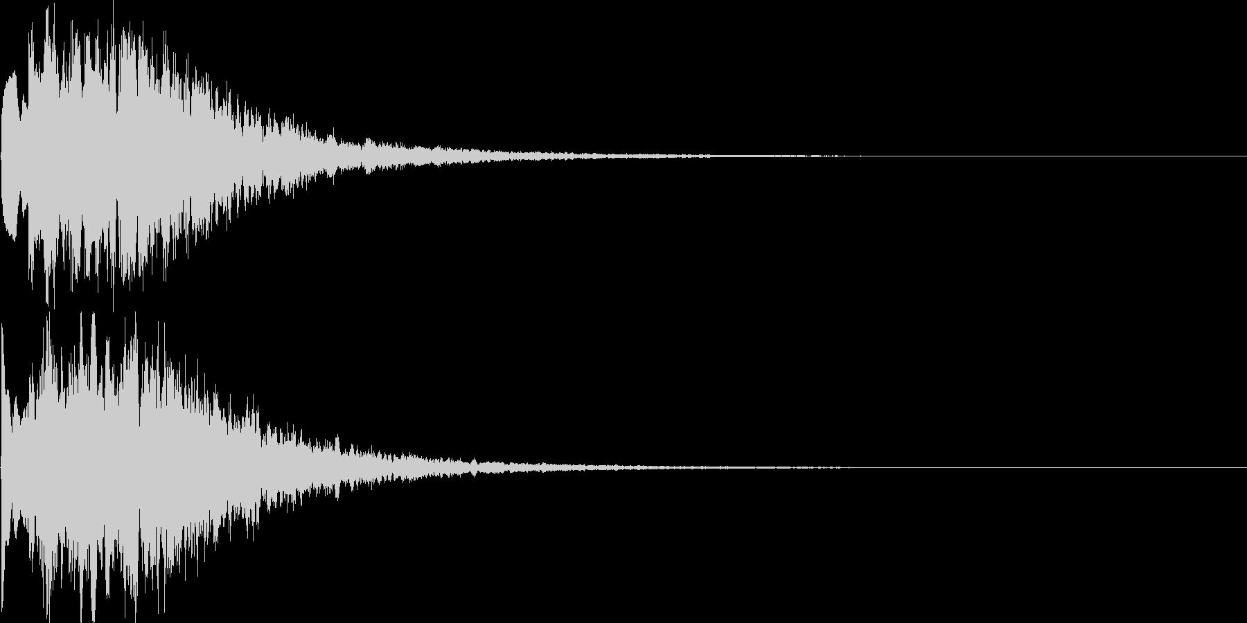キラキラ(決定音、ゲーム、アプリに)の未再生の波形