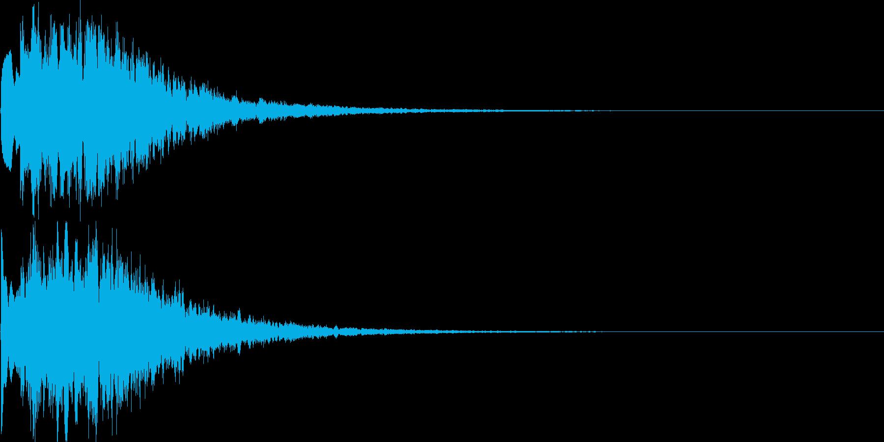 キラキラ(決定音、ゲーム、アプリに)の再生済みの波形