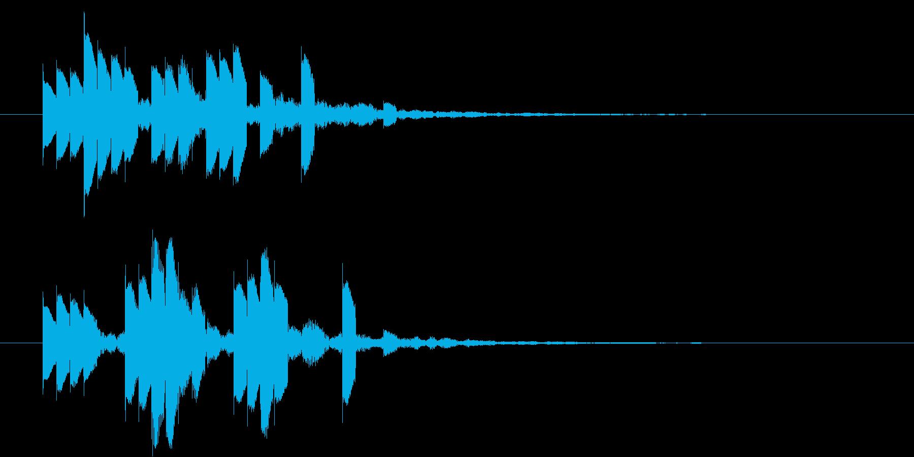 ピロピロピロピロ・・・の再生済みの波形