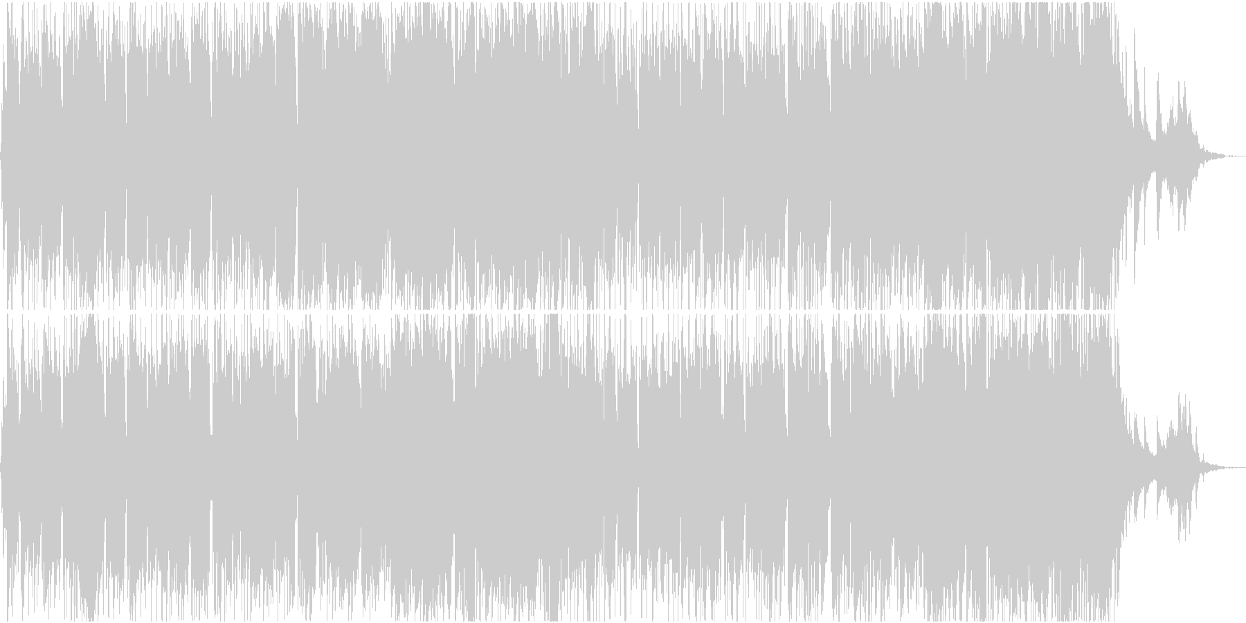 ピアノと木管の明るく期待感ある日常系の未再生の波形