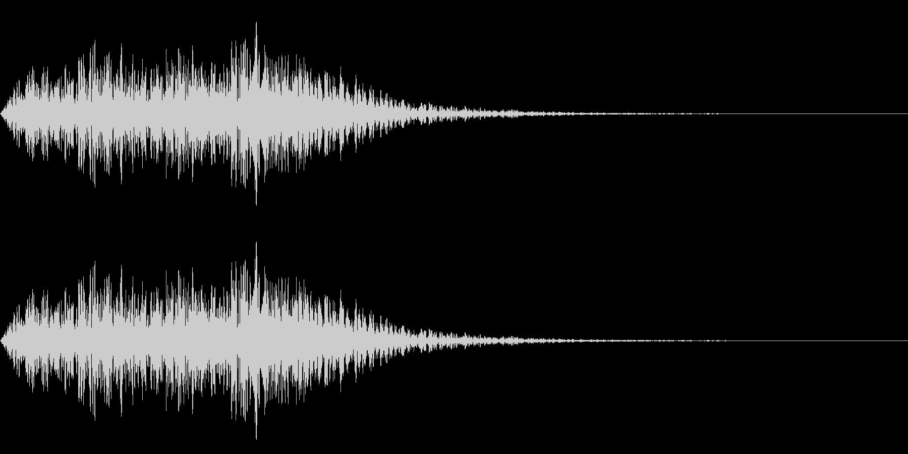 マイナー音階の~ジャジャジャジャン~の未再生の波形