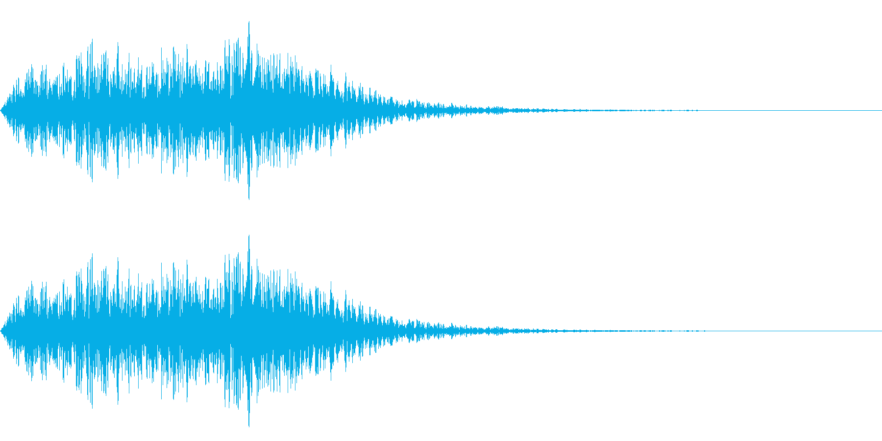 マイナー音階の~ジャジャジャジャン~の再生済みの波形
