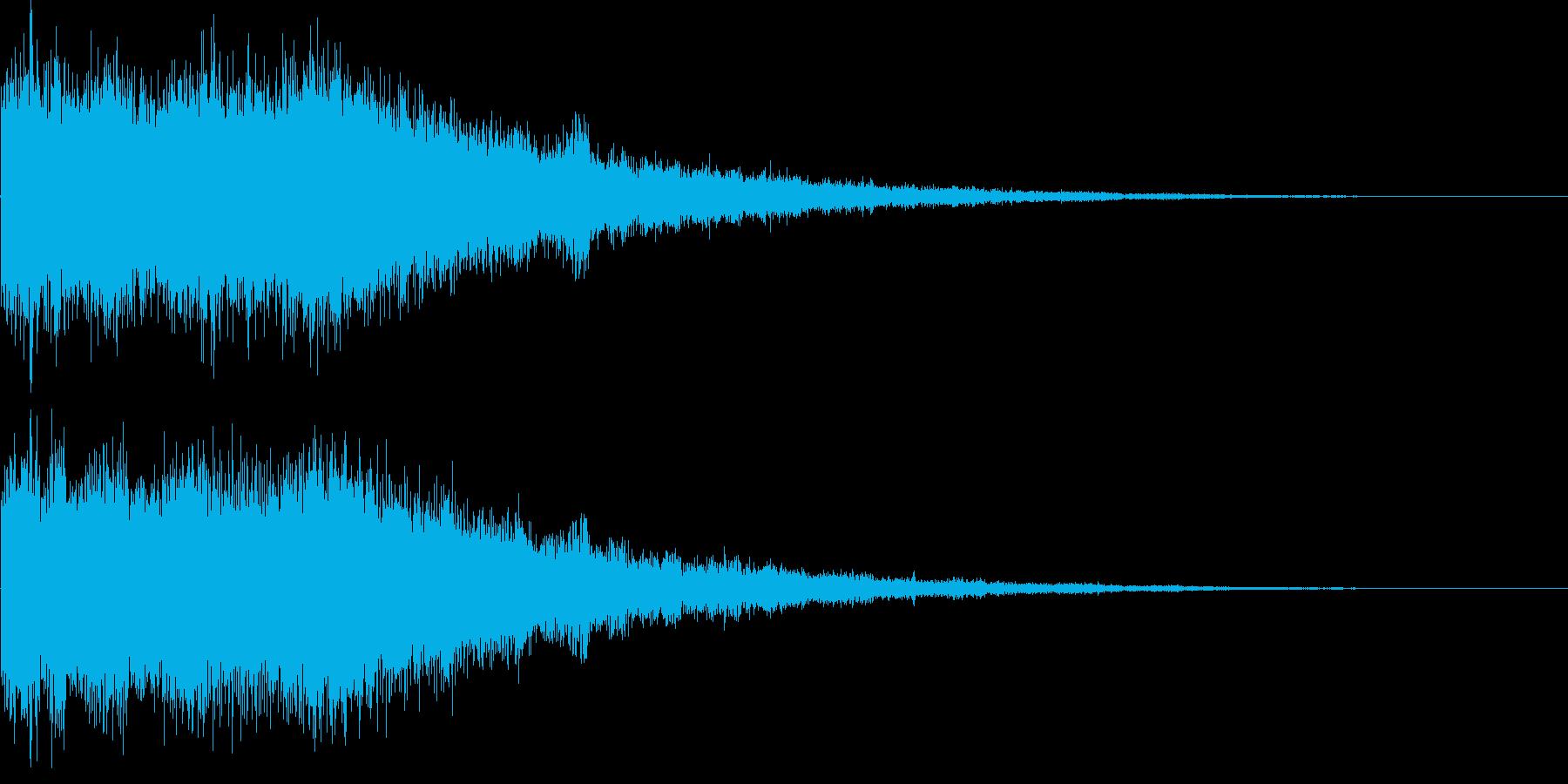 氷魔法03b(冷気属性魔法)の再生済みの波形