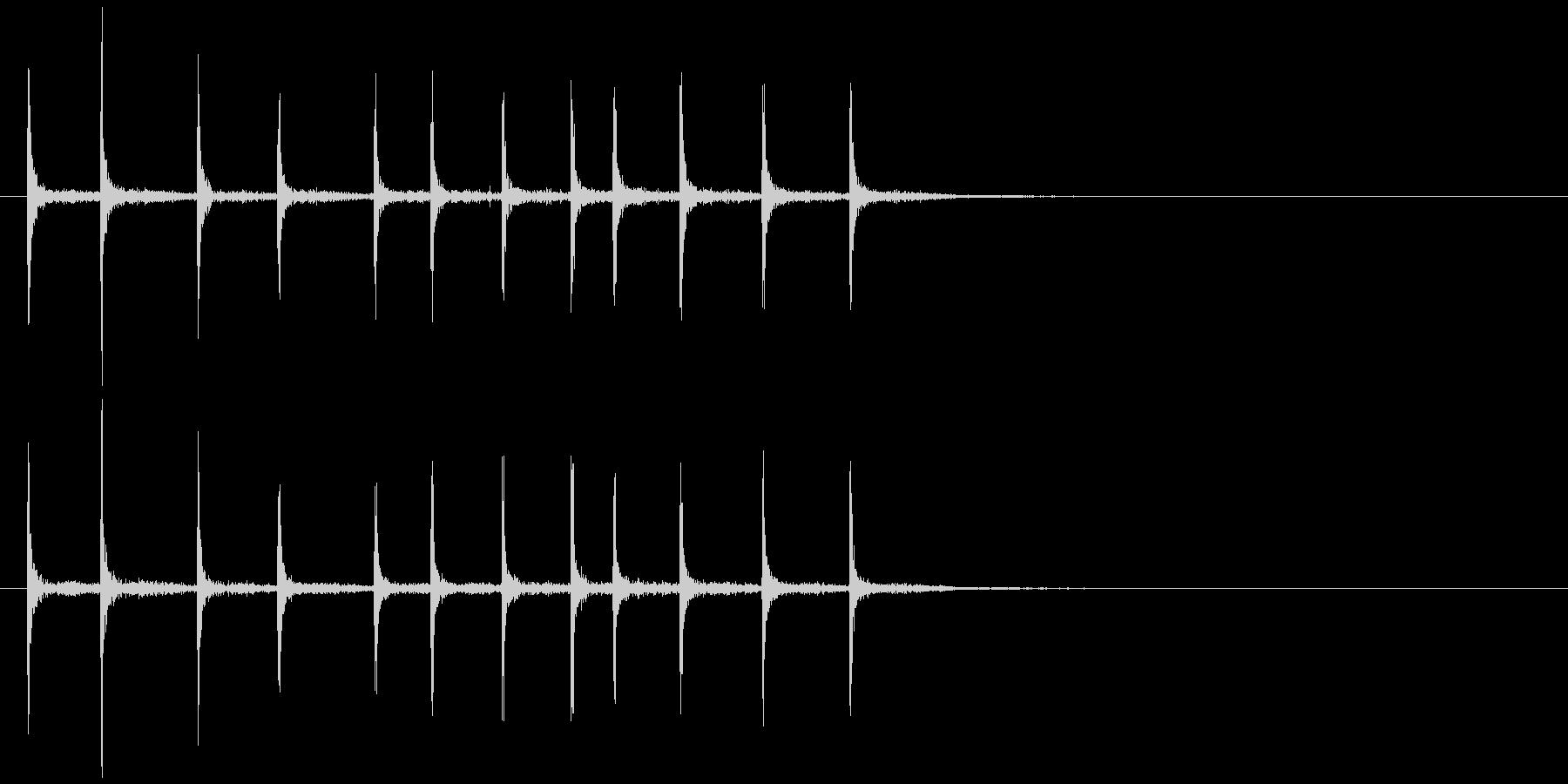 ゼンマイを巻く (キリリリ…)の未再生の波形