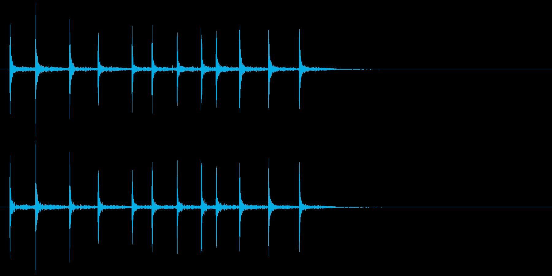 ゼンマイを巻く (キリリリ…)の再生済みの波形