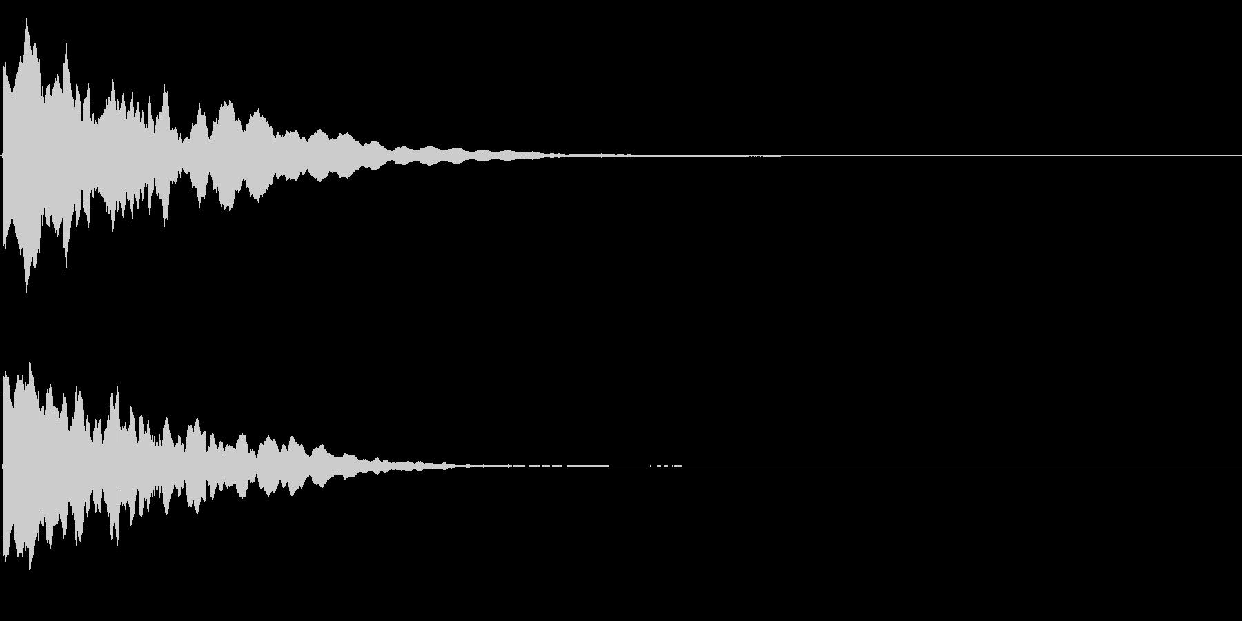 ゲームスタート、決定、ボタン音-079の未再生の波形