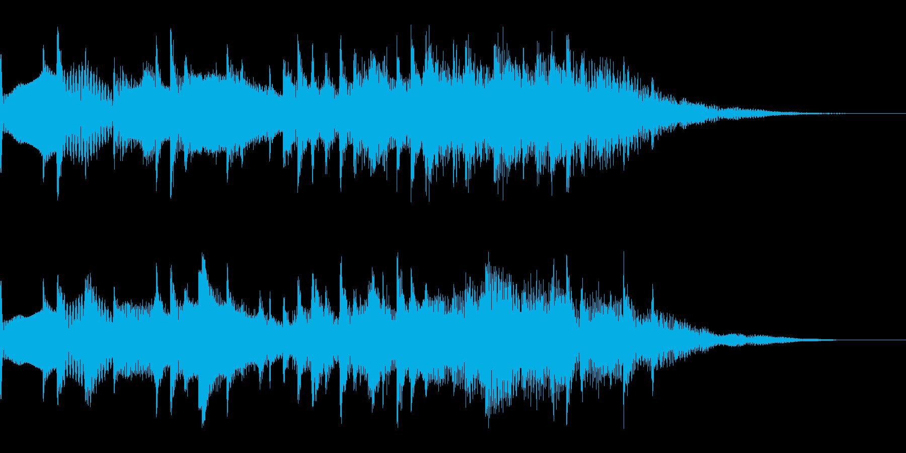 サウンドロゴ【水】 未来的明るく軽い水玉の再生済みの波形