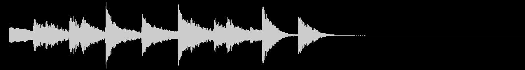 軽やかなピアノのジングルの未再生の波形