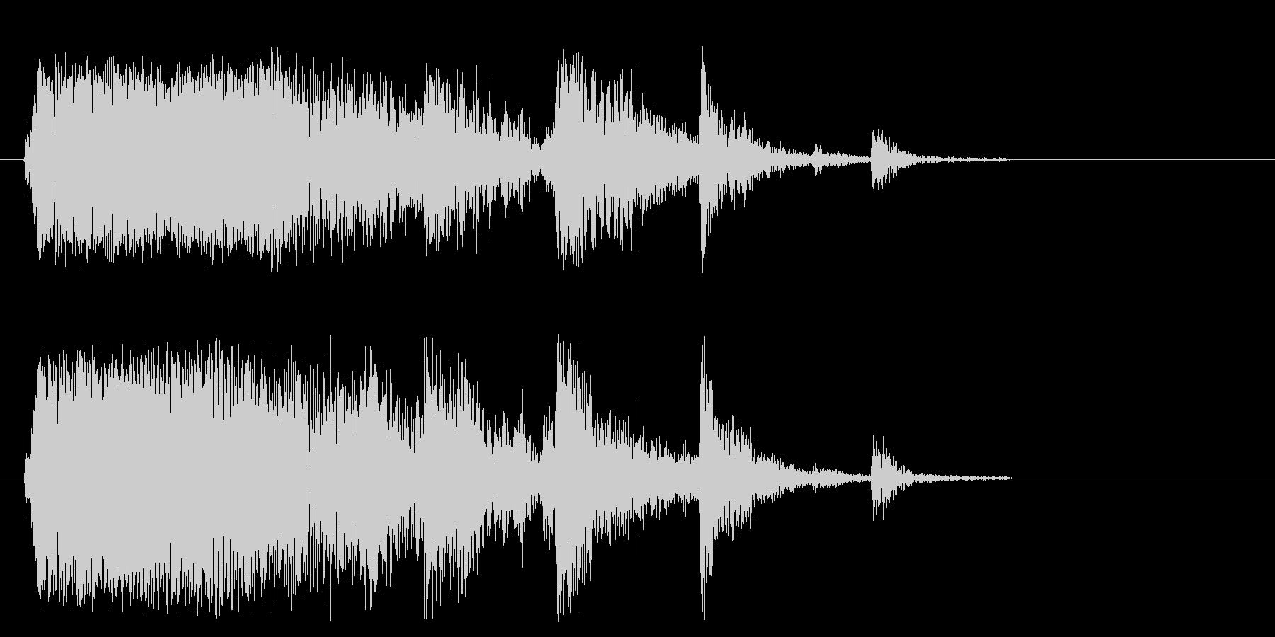 ガシャン(落ちる・割れる音)の未再生の波形
