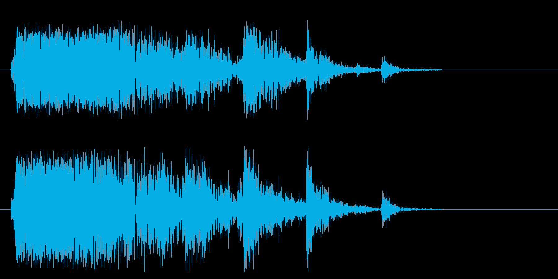 ガシャン(落ちる・割れる音)の再生済みの波形