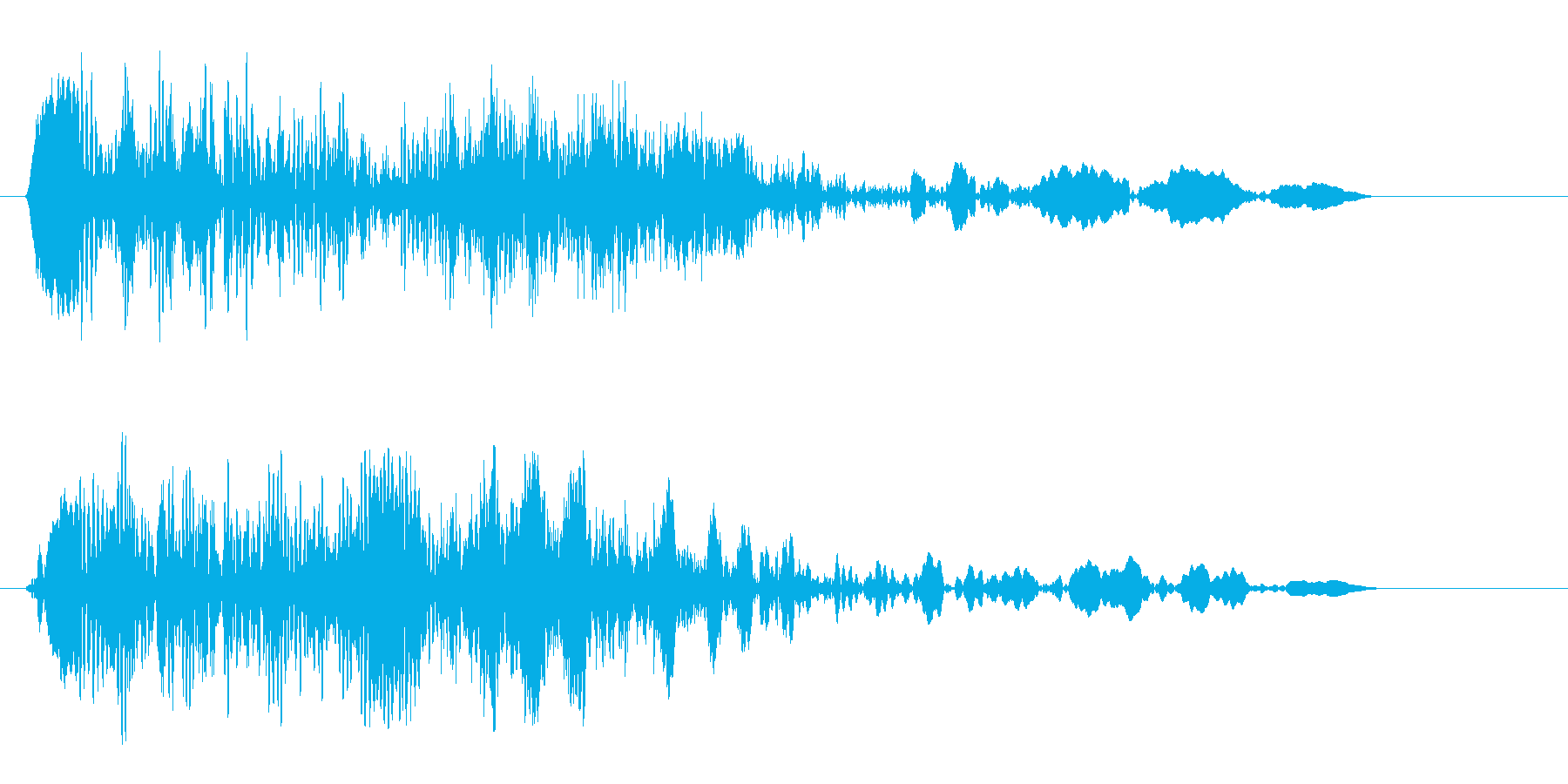 モキュッ (機械的な音声)の再生済みの波形