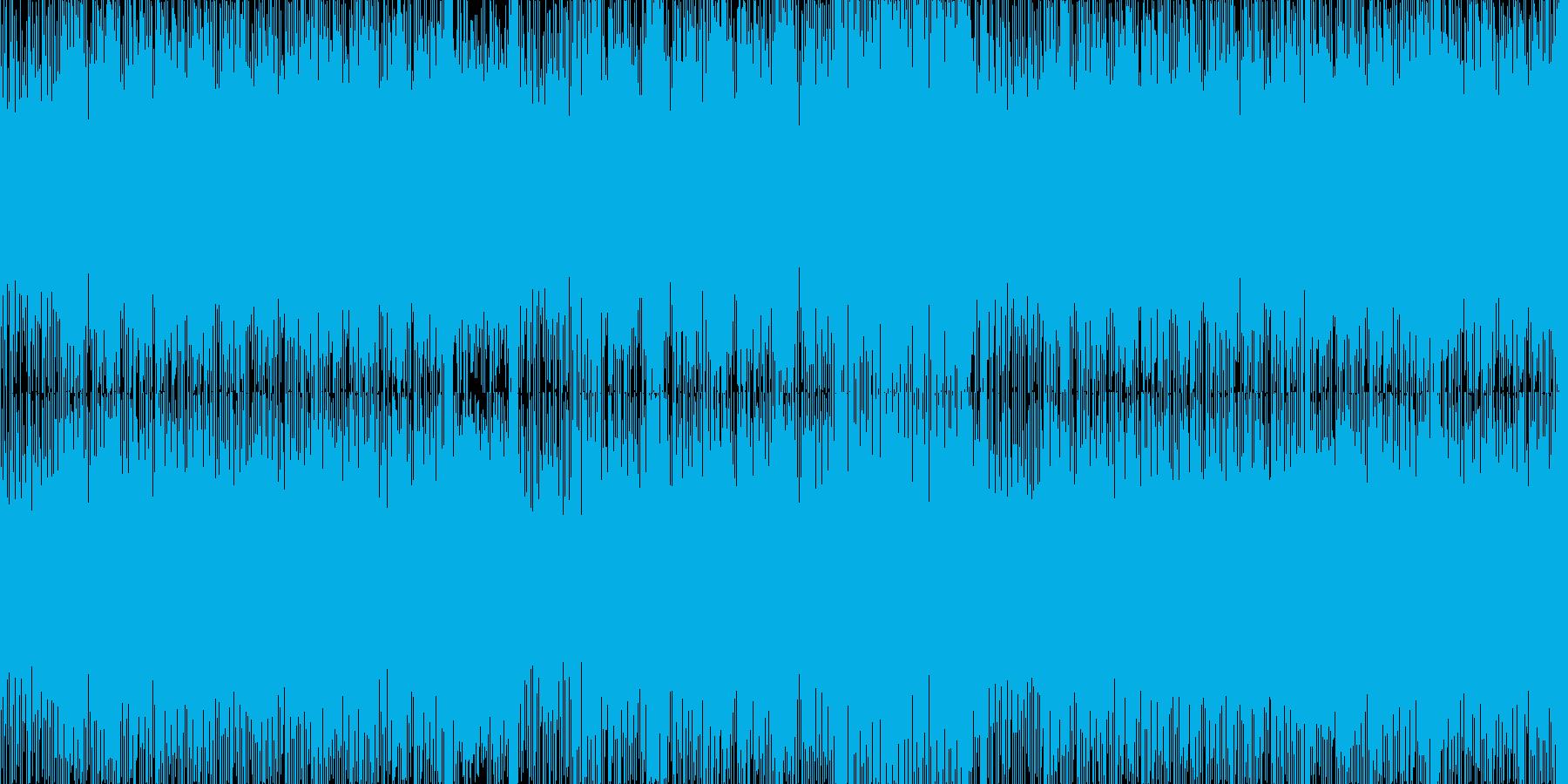 疾走感のあるテクノの再生済みの波形