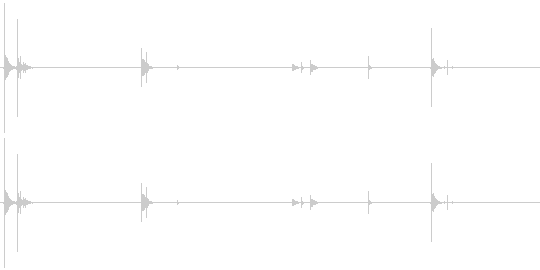ぱち ぱちり ぺかっの未再生の波形