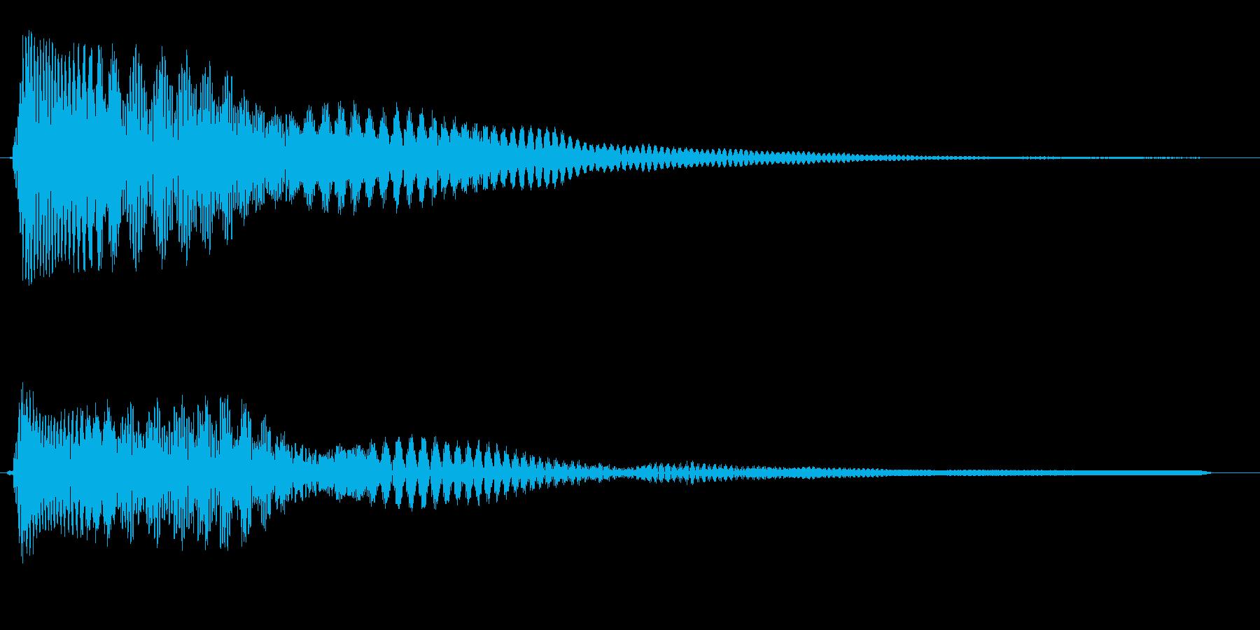 ピユー↑ン(コメディ感のある感じ)の再生済みの波形