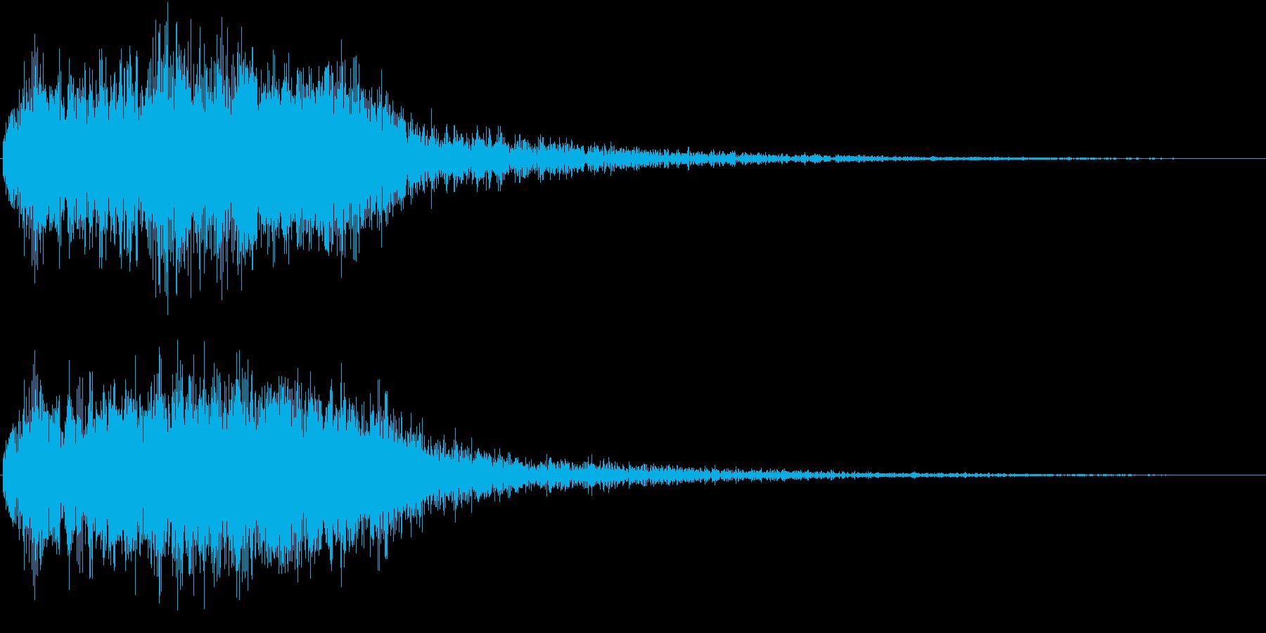 ゲームレベルアップに使えるファンファーレの再生済みの波形