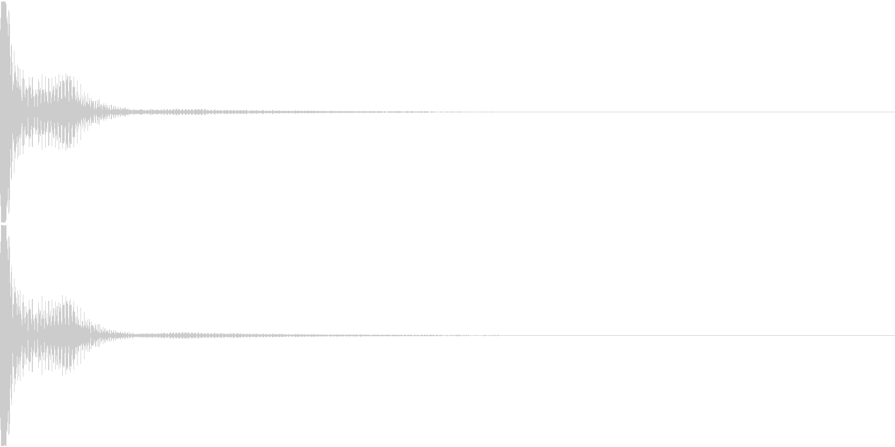 DTM PercFX 1 オリジナル音源の未再生の波形