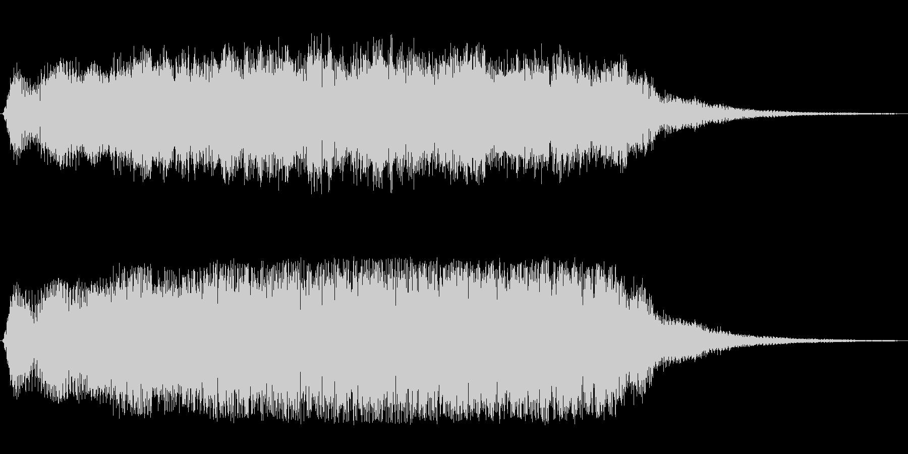 重厚感と神秘性のあるオープニング曲の未再生の波形