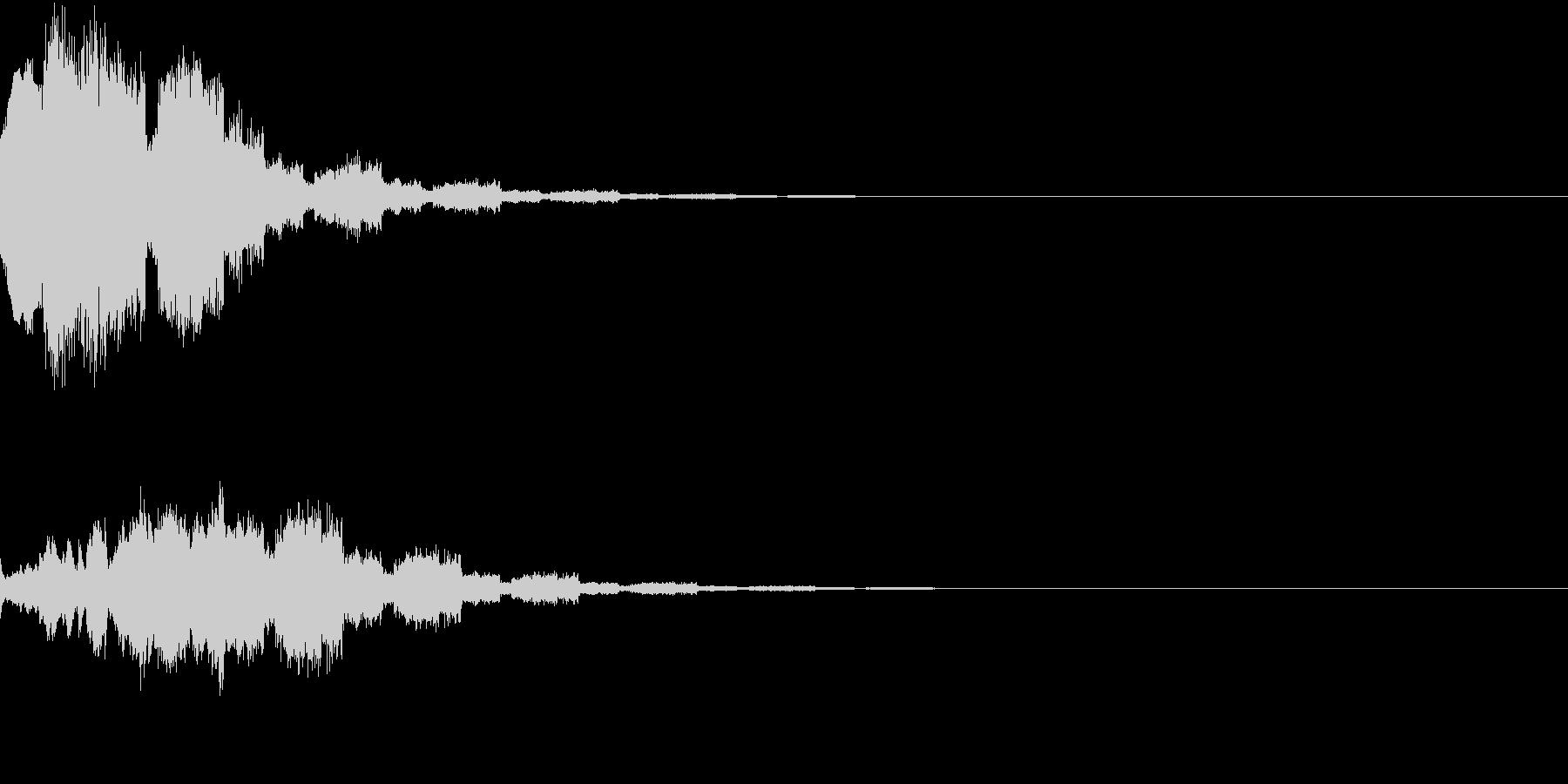 RPG アイテムゲット音の未再生の波形
