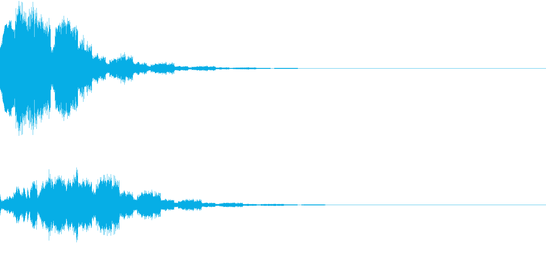 RPG アイテムゲット音の再生済みの波形